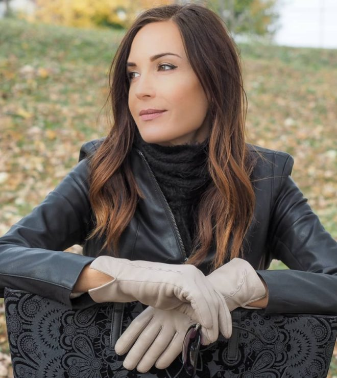 Leather Gloves Winter for Women